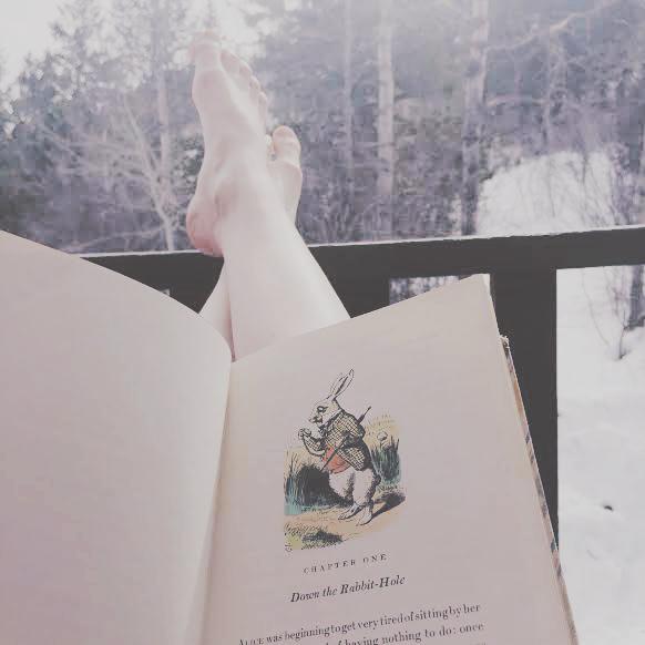 Reading Alice in Wonderland