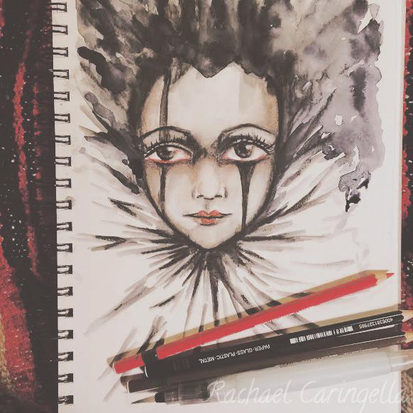 Clown Girl Drawing Tree Talker