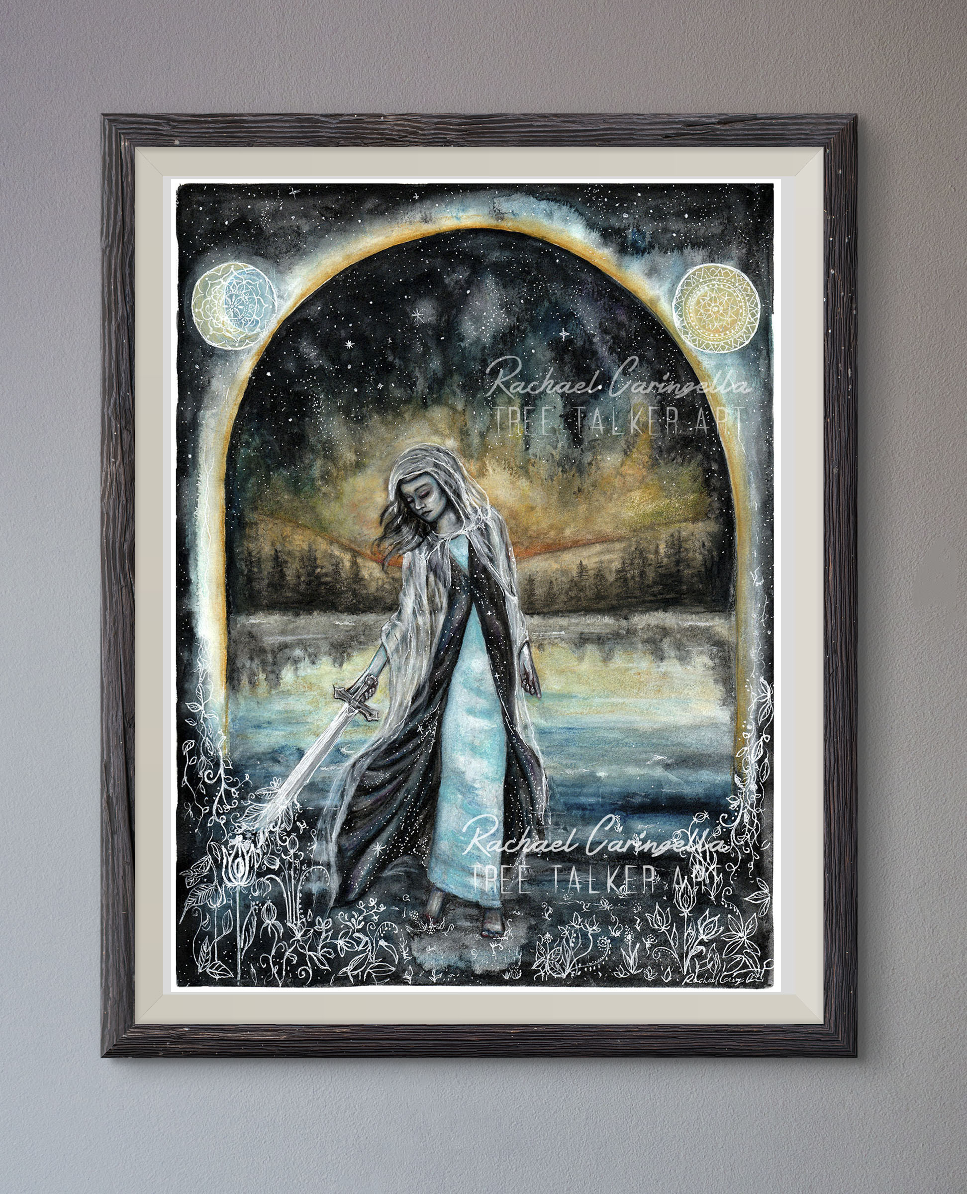 Warrior Mixed Media Painting by Rachael Caringella   Tree Talker Art