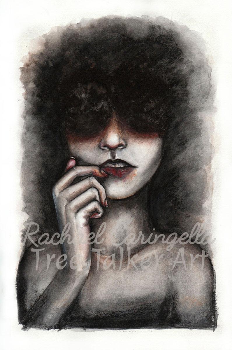 Lip Picker | Rachael Caringella Water Color | Tree Talker Art