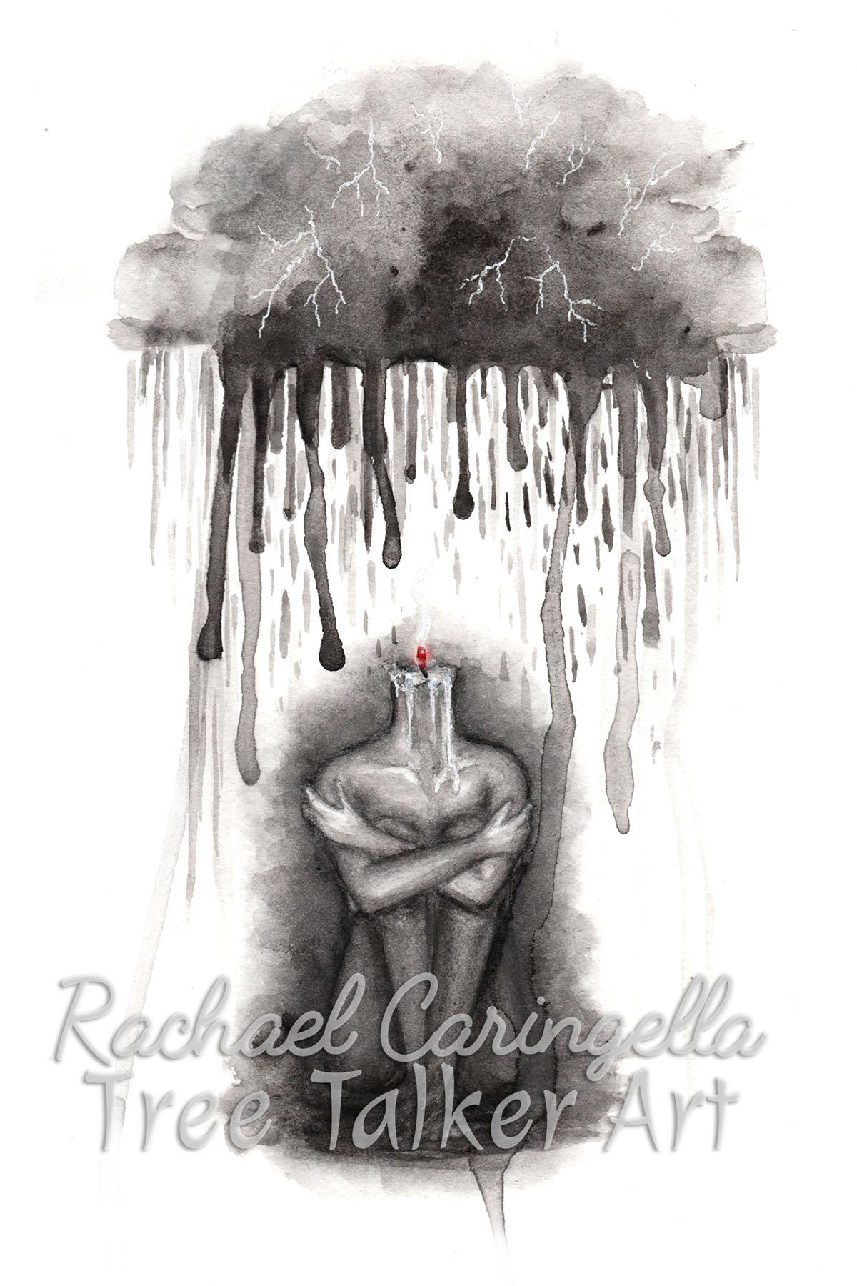 Depression | Rachael Caringella Watercolor | Tree Talker Art