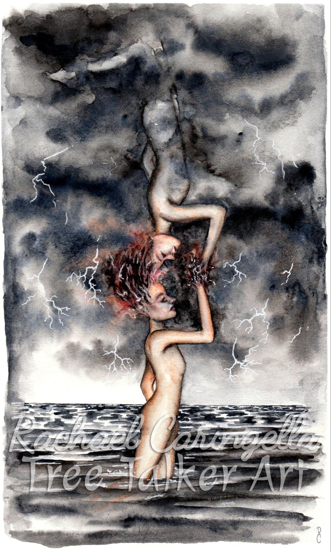 Soul's Reflection | Rachael Caringella Watercolor | Tree Talker Art
