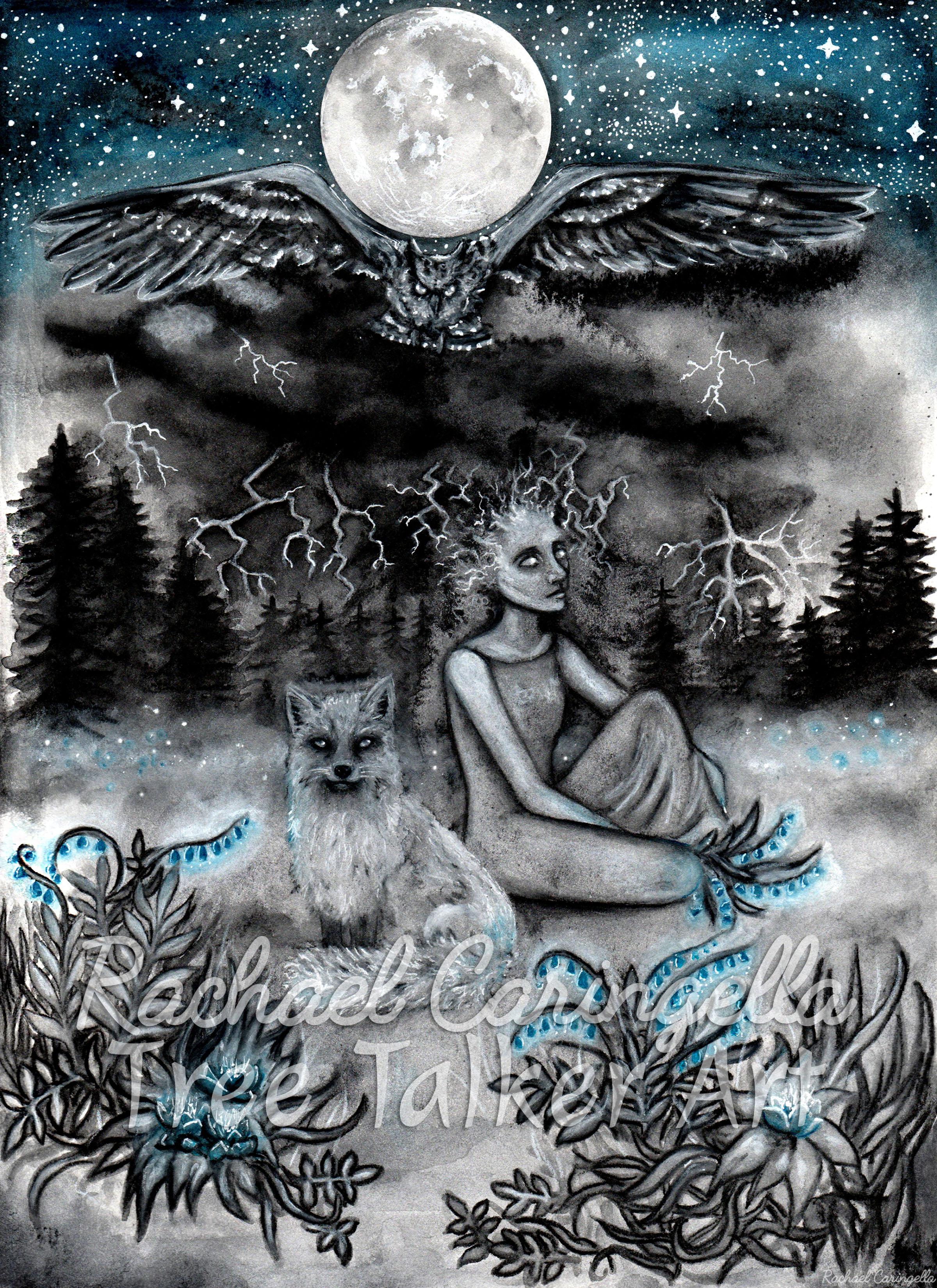 That Place in my mind | Surreal Art | Rachael Caringella Watercolor | Tree Talker Art
