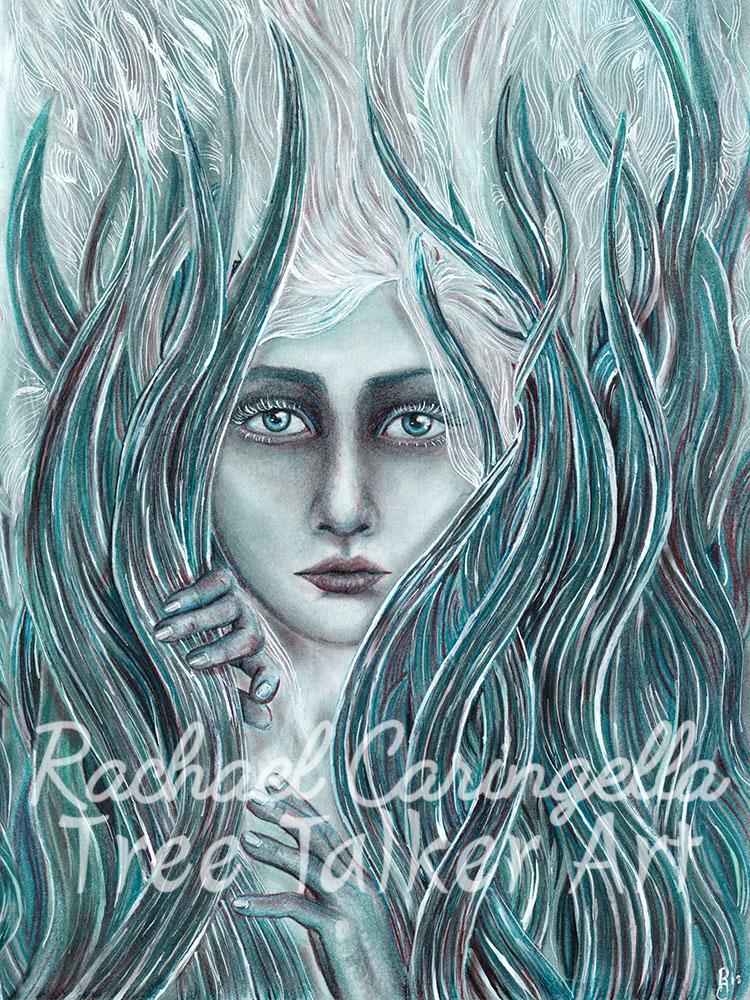 Mermaid Art | Tree Talker Art | Rachael Caringella