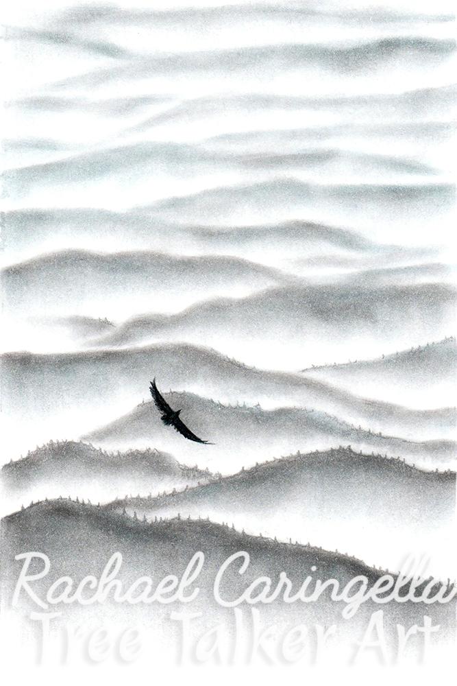 Misty Mountains Art | Tree Talker Art | Rachael Caringella
