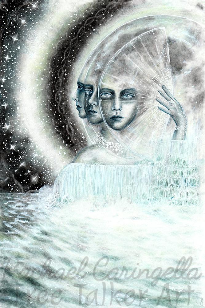 The Moon Art | Tree Talker Art | Rachael Caringella