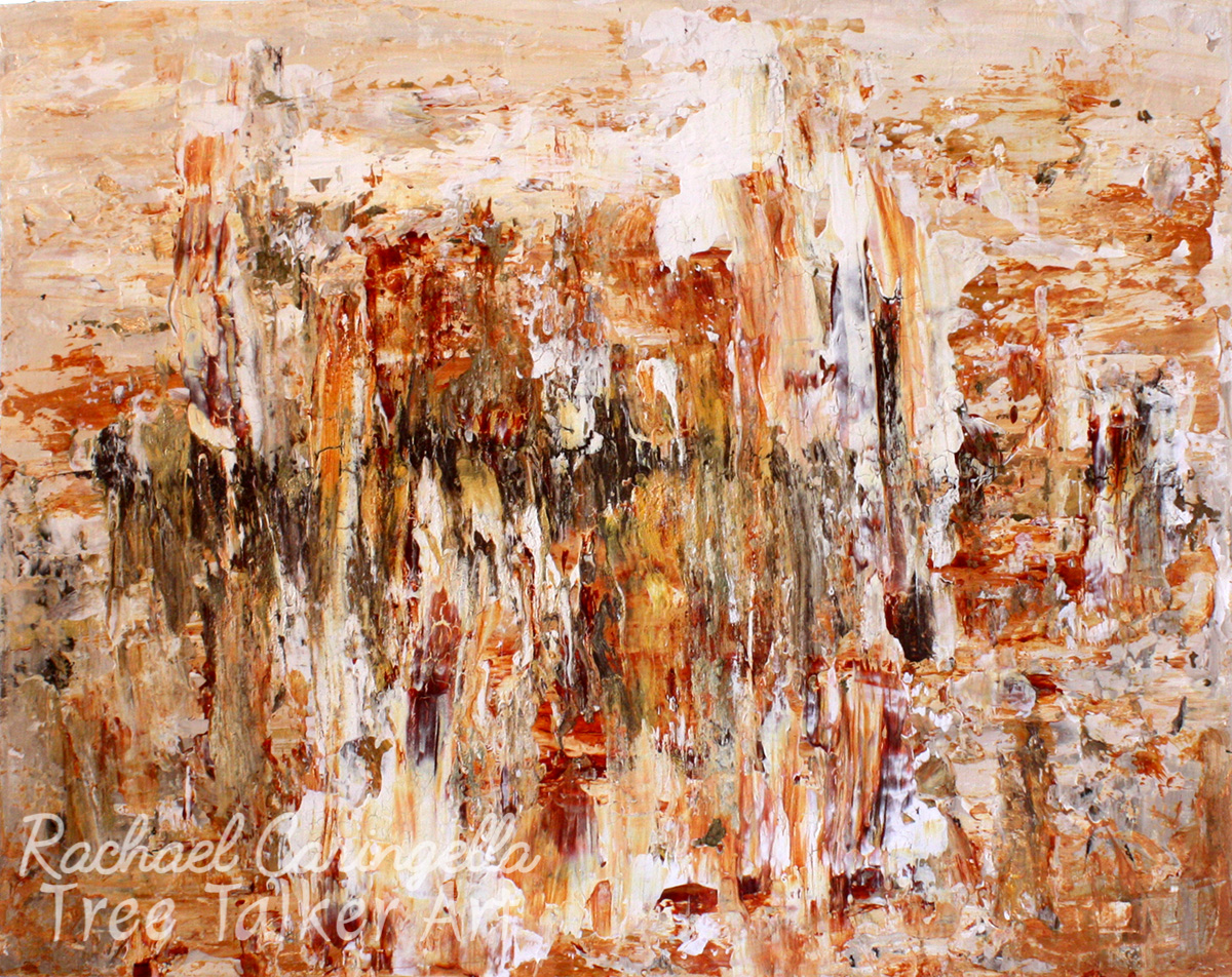 Feeling Fragile | Abstract Original Gold Leaf Painting | Rachael Caringella | Tree Talker Art