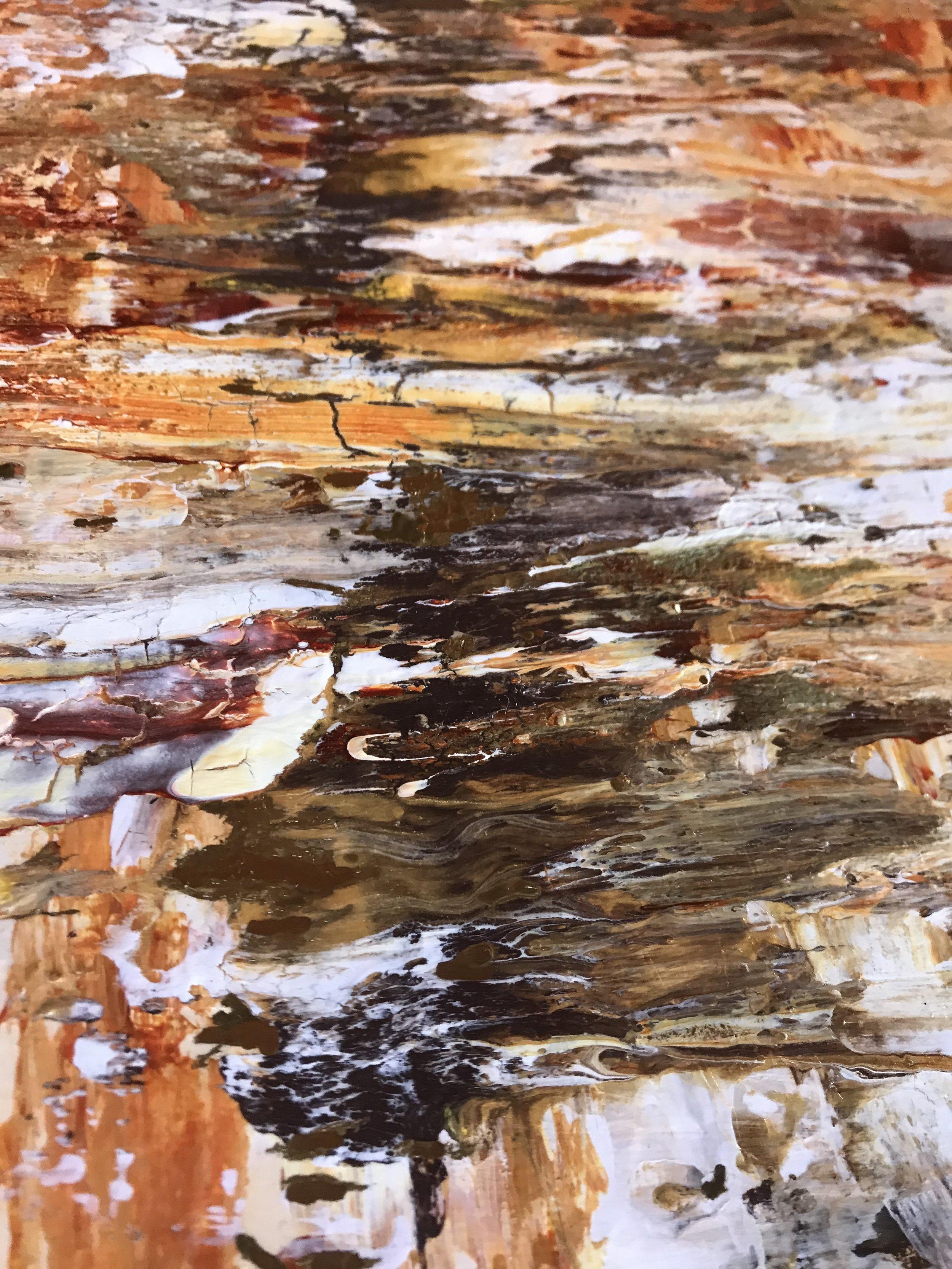 Feeling Fragile | Abstract Gold Leaf Painting | Rachael Caringella | Tree Talker Art