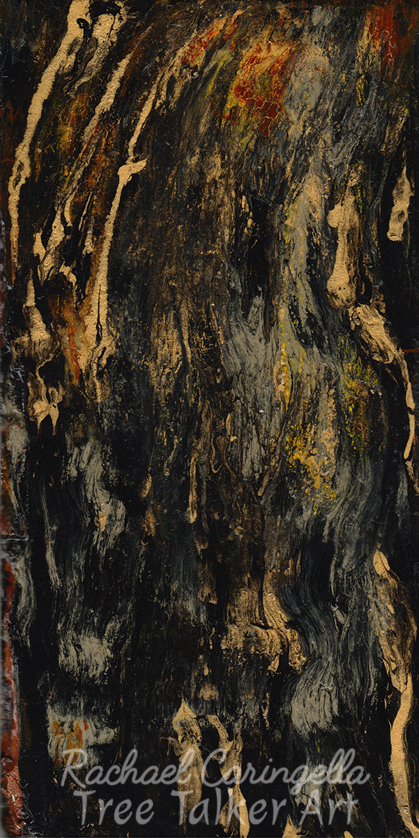 Which Way Up? Abstract Tree Painting | Rachael Caringella Tree Talker Art