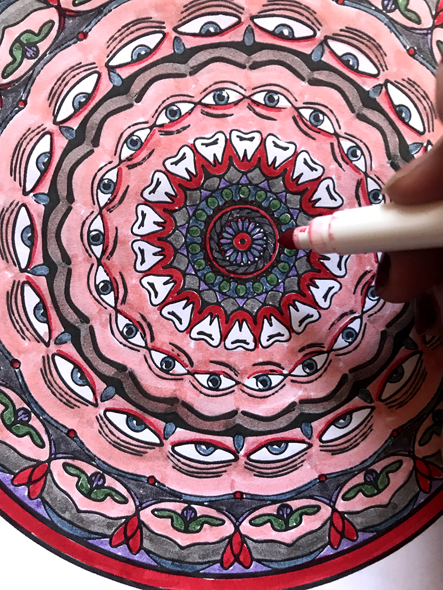 Colorable Mandala Tree Talker Art