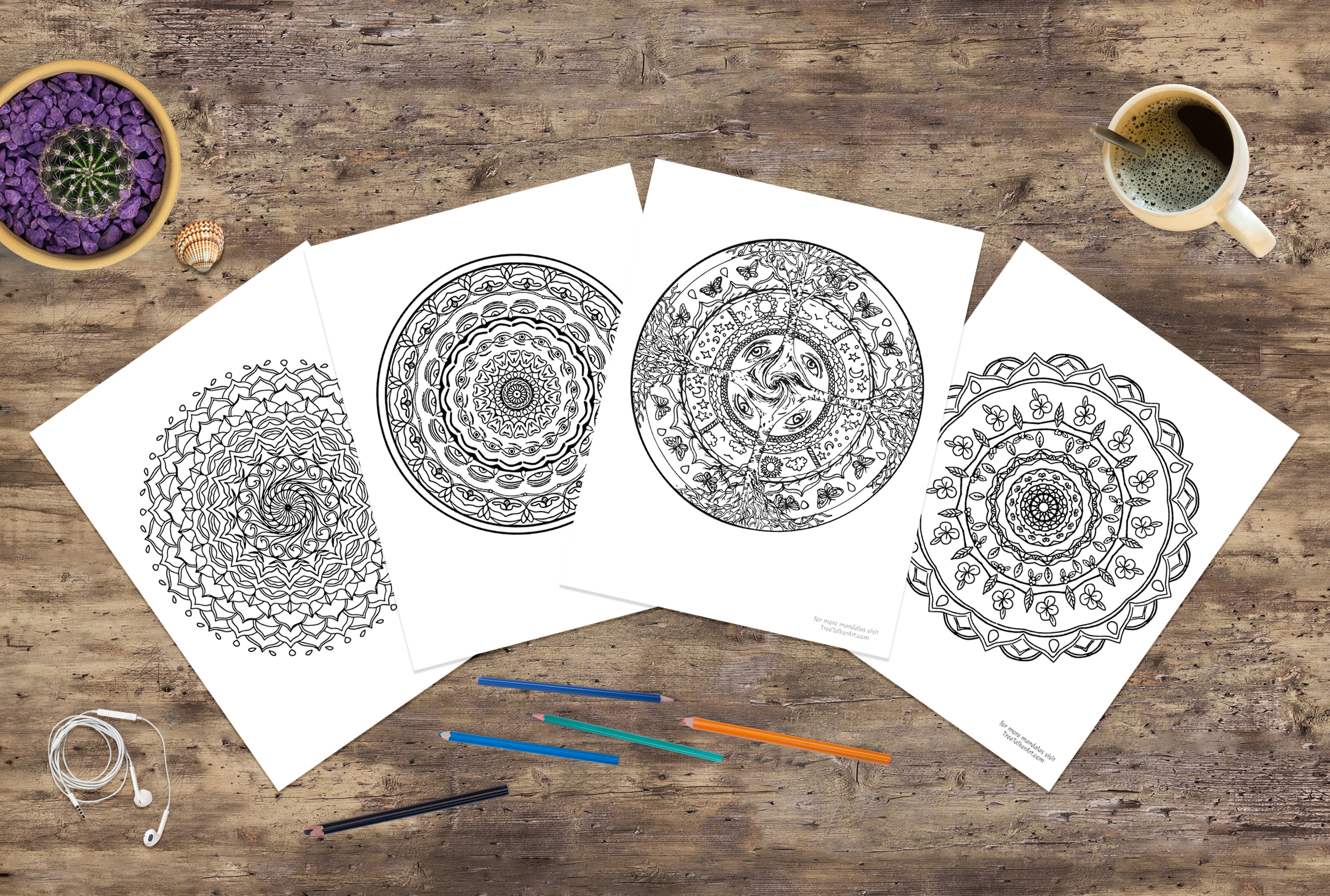 Free Colorable Mandalas | Tree Talker Art
