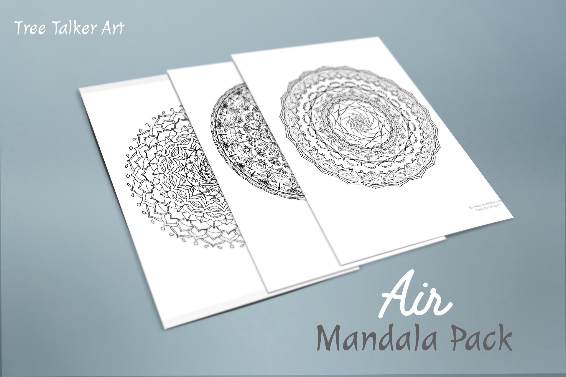 Air Downloadable Mandala Meditation Pack | Tree Talker Art