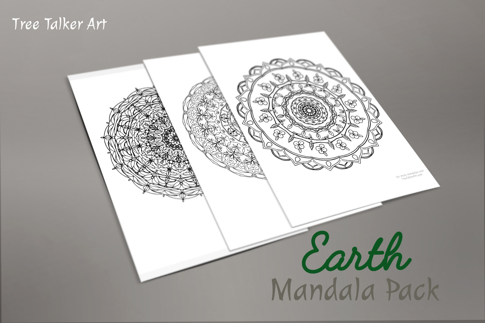 Earth Downloadable Mandala Meditation Pack | Tree Talker Art