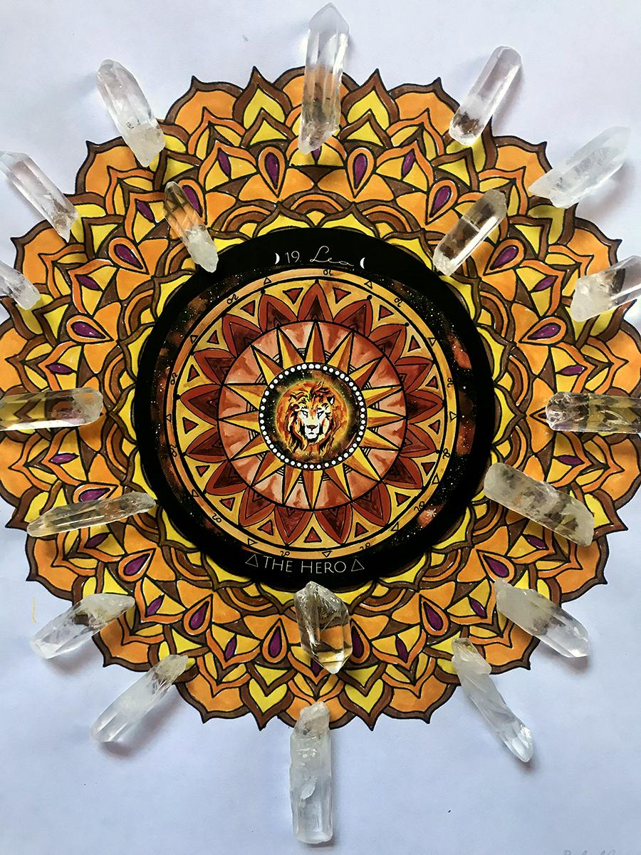 Tree Talker Art Mandalas and Spirit de la Lune Card | Free Colorable Mandalas