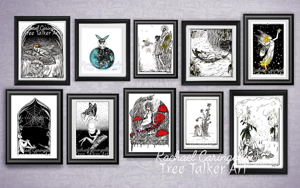 Tree Talker Art Inktober 2018 Illustrations of a Fairies