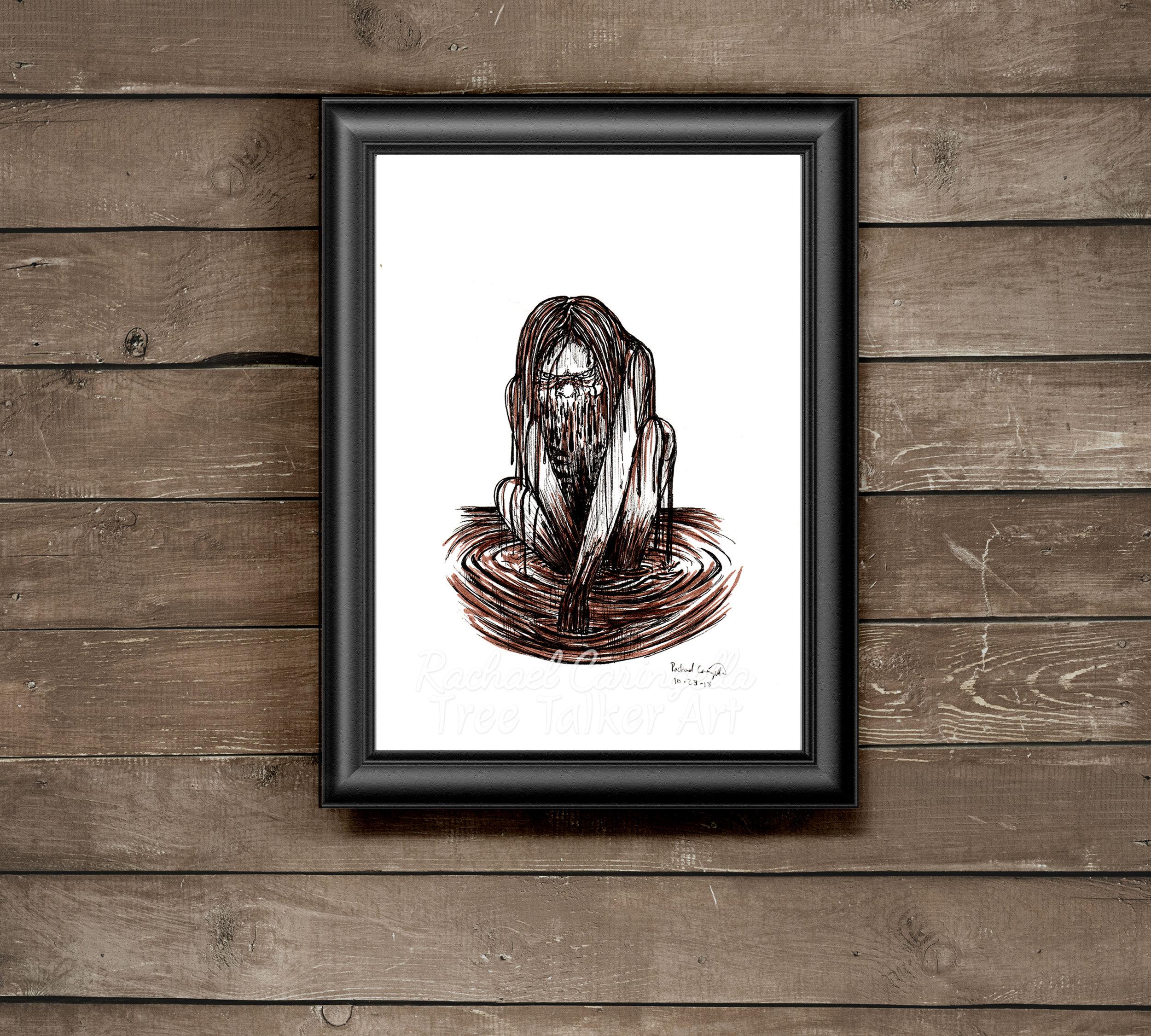mud hag Tree Talker Art Inktober 2018 Illustration of a mud hag