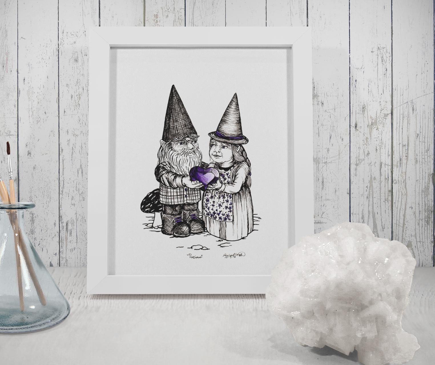Gnomes in love Tree Talker Art Inktober 2018 Illustration of Gnomes in Love