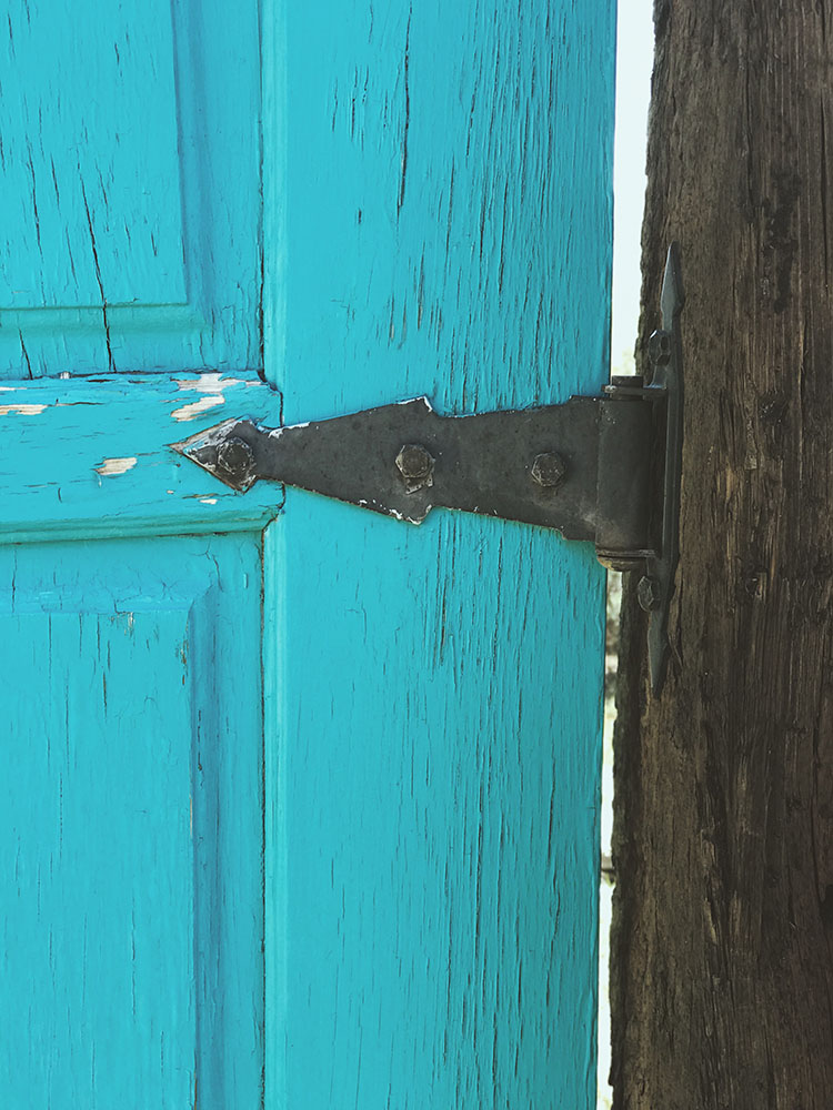 Taos Blue Doors - - A House in Taos | Tree Talker Art