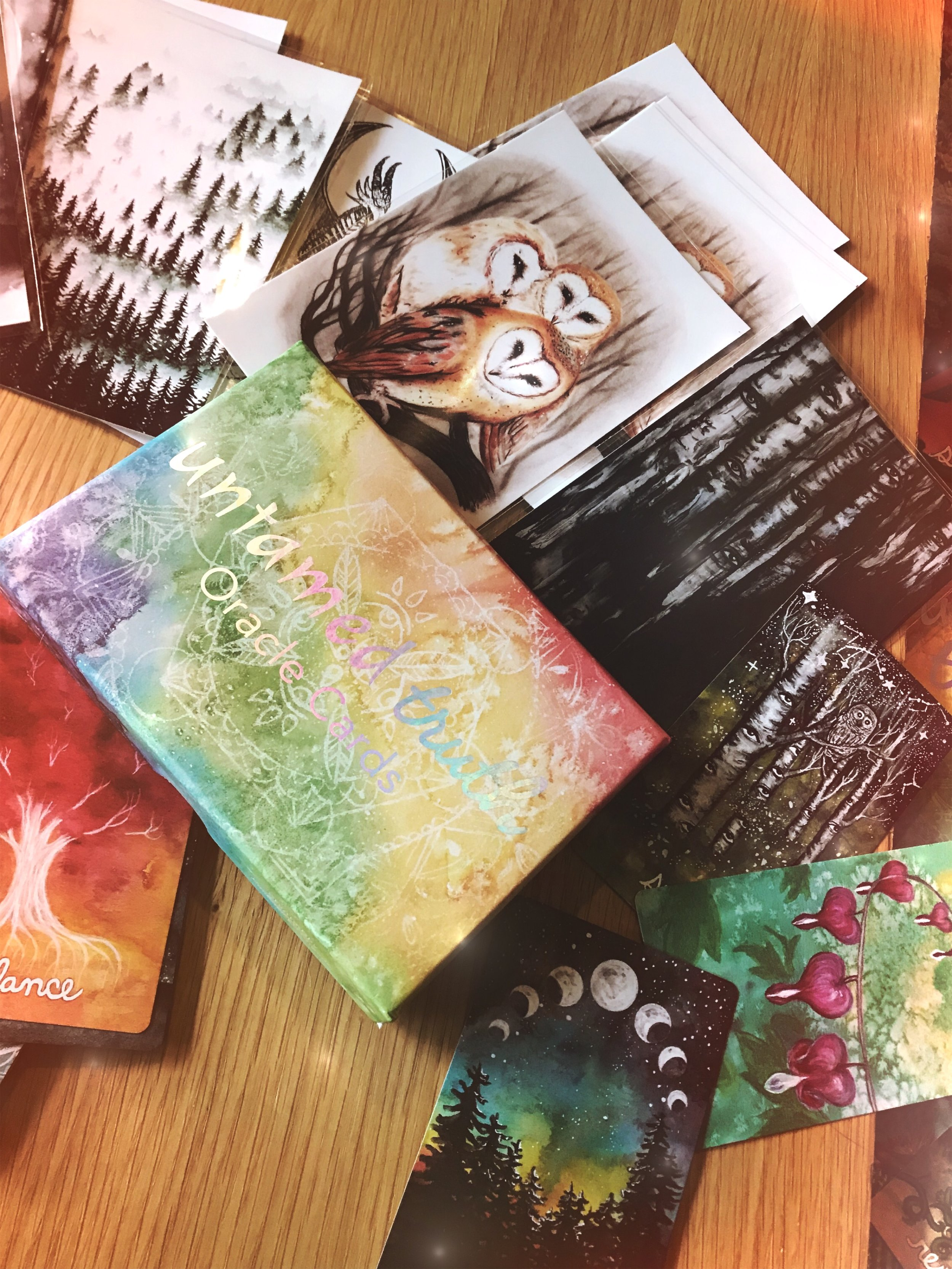 Untamed Truth Oracle Cards by Tree Talker Art Rachael Caringella