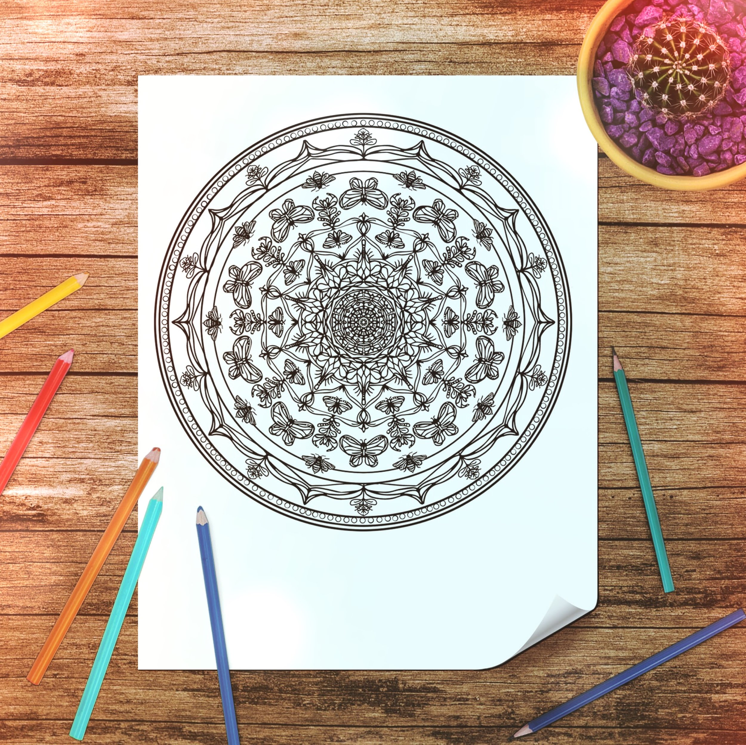 Dandelions and Divination | Full Moon Ritual and Free Mandala Tree Talker Art