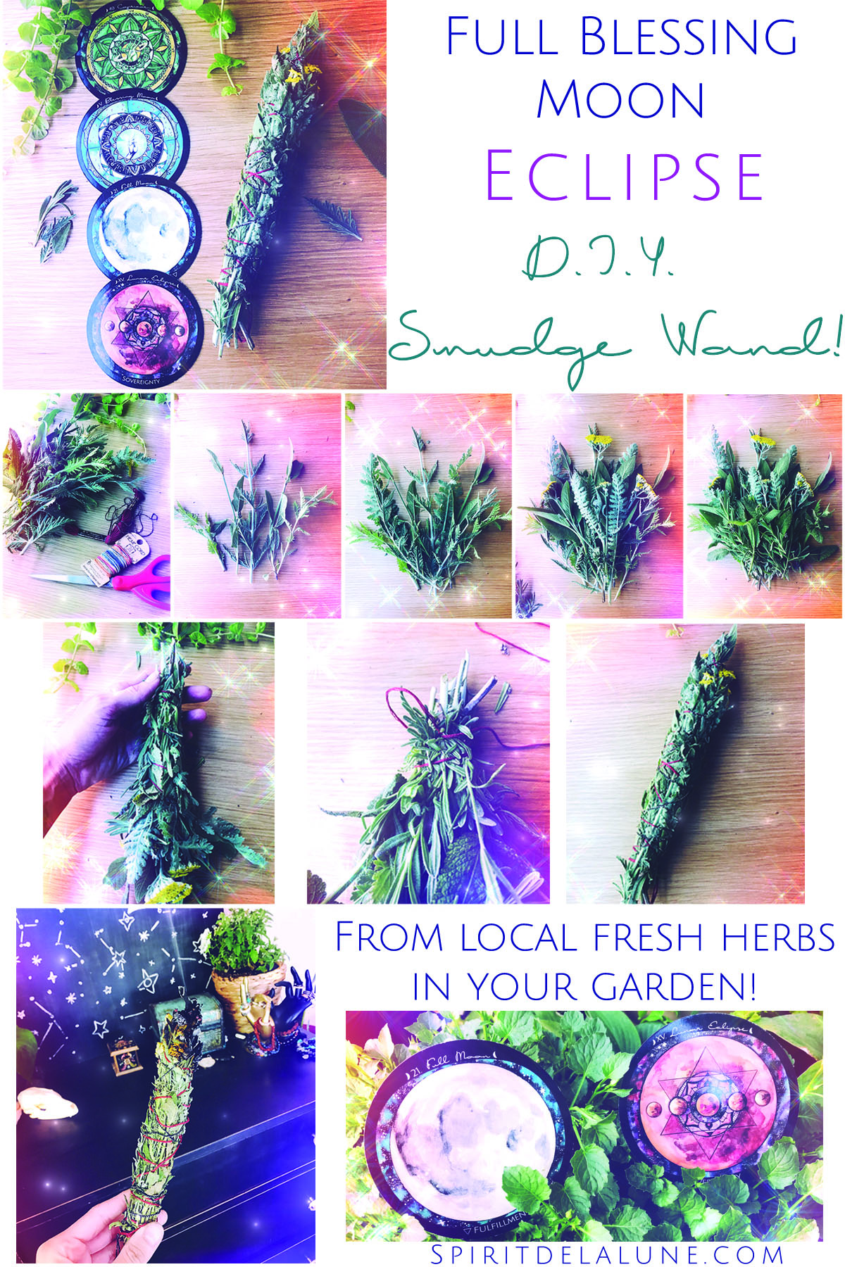 deck Updates and A blessing moon DIY Smudging wand
