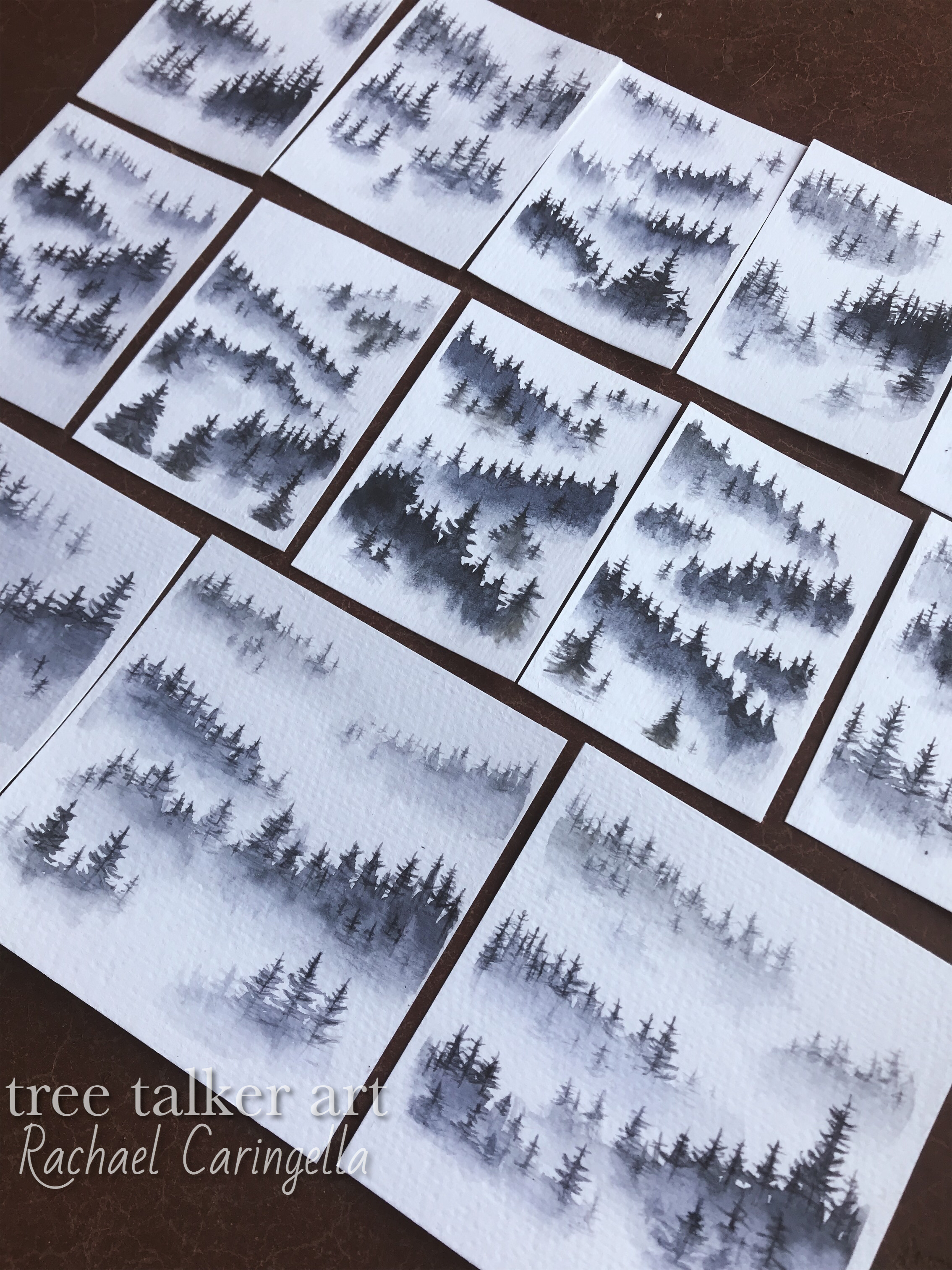 Misty Trees and forest scenes | Tree talker art