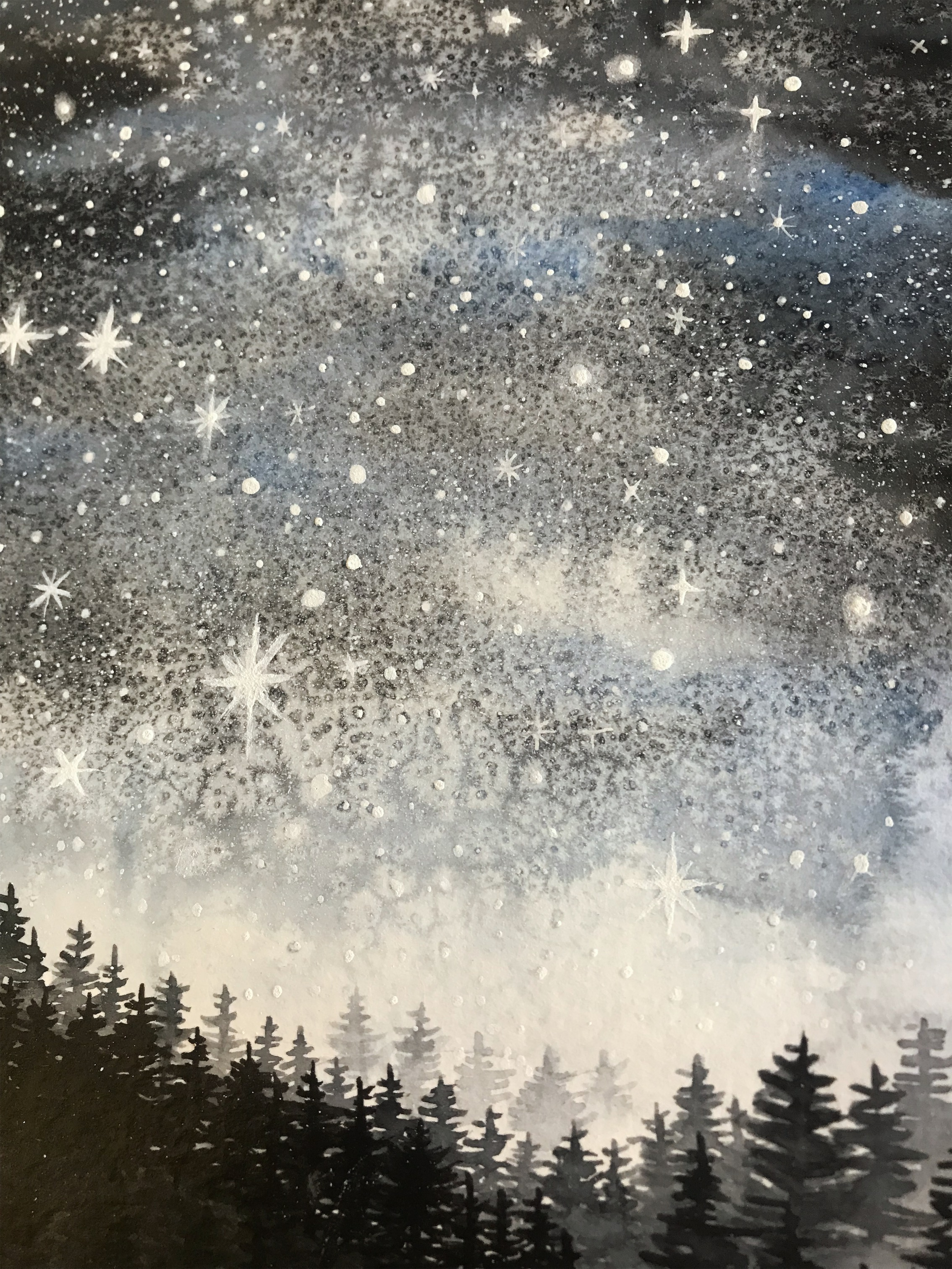Glow in the dark misty forest scenes by rachael caringella | Tree talker art
