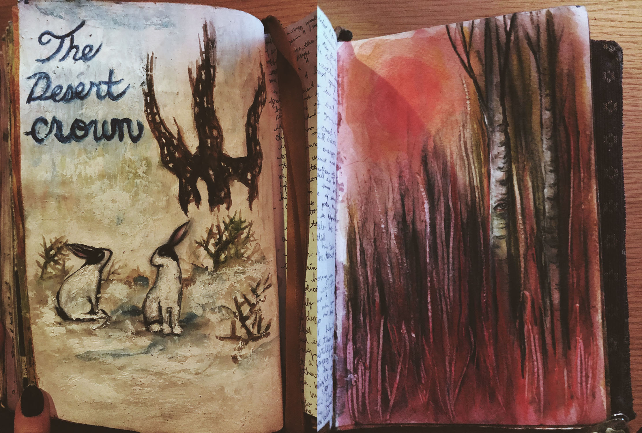 Tree Talker Art Journal Pages Rachael Caringella