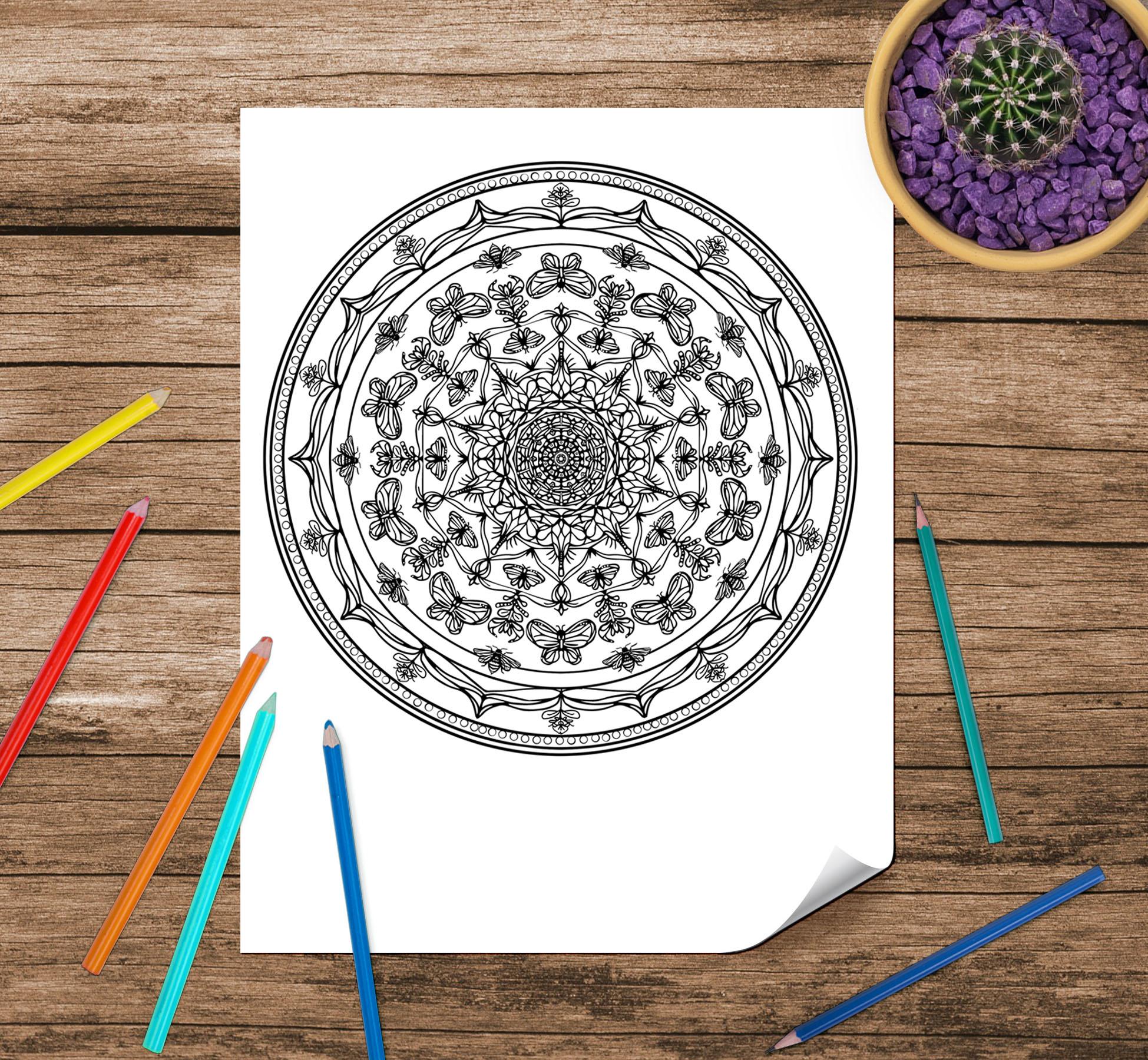 Reiki Infused Custom Intention Mandala by Rachael Caringella