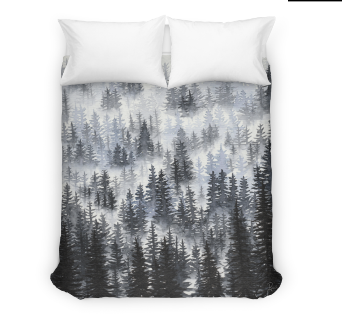 Tree Talker Art Misty Forest Bedspread