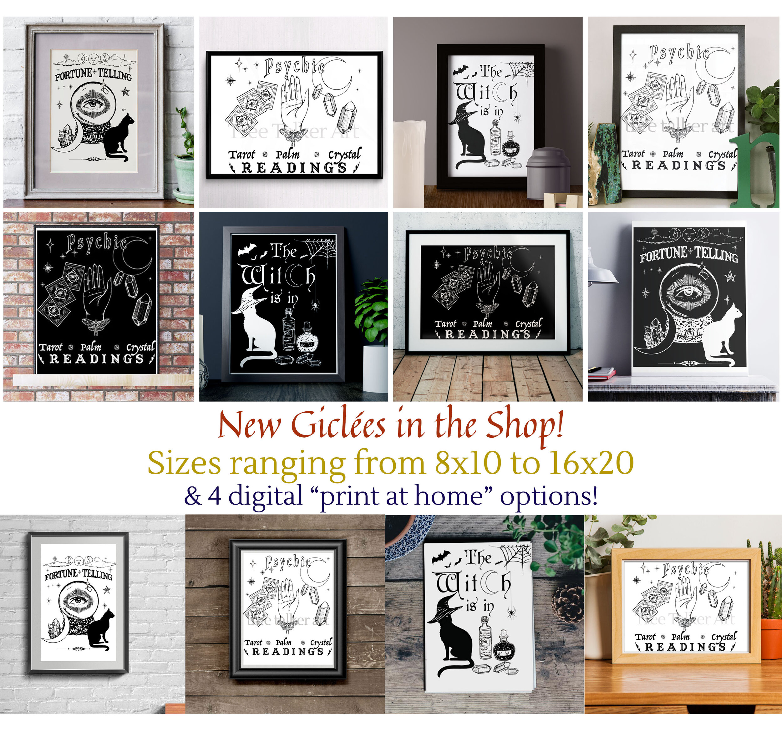 Tree Talker Art Shop Update New Art Prints Fortune Telling Signs