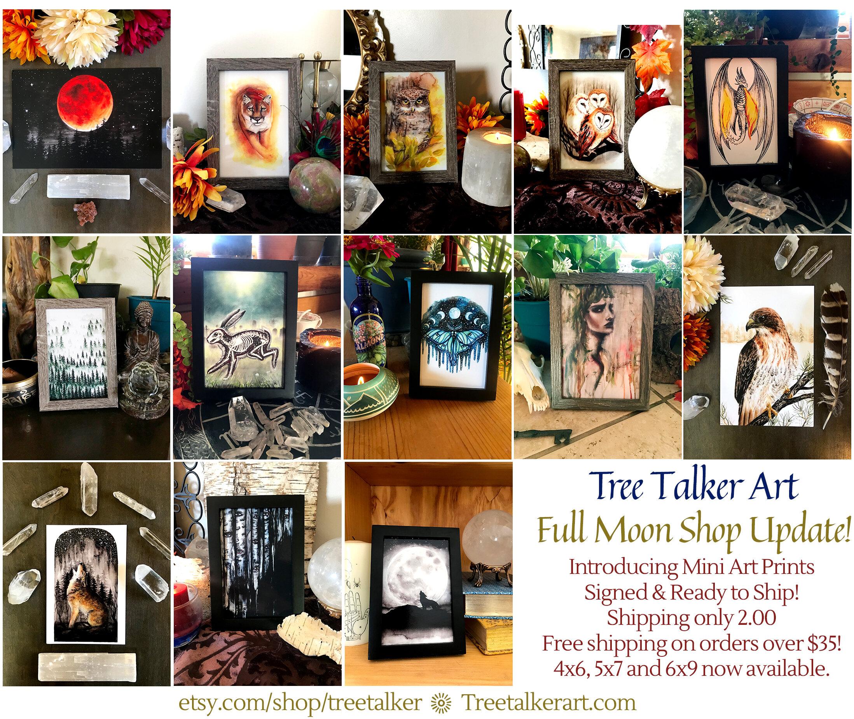 Tree Talker Art Shop Update New Art Prints Mini Art Prints