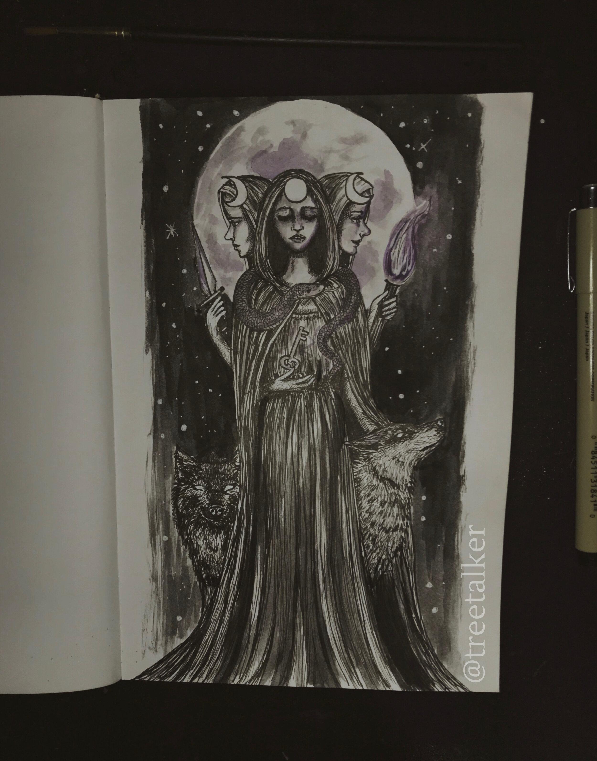 Tree Talker Art Inktober Goddesses