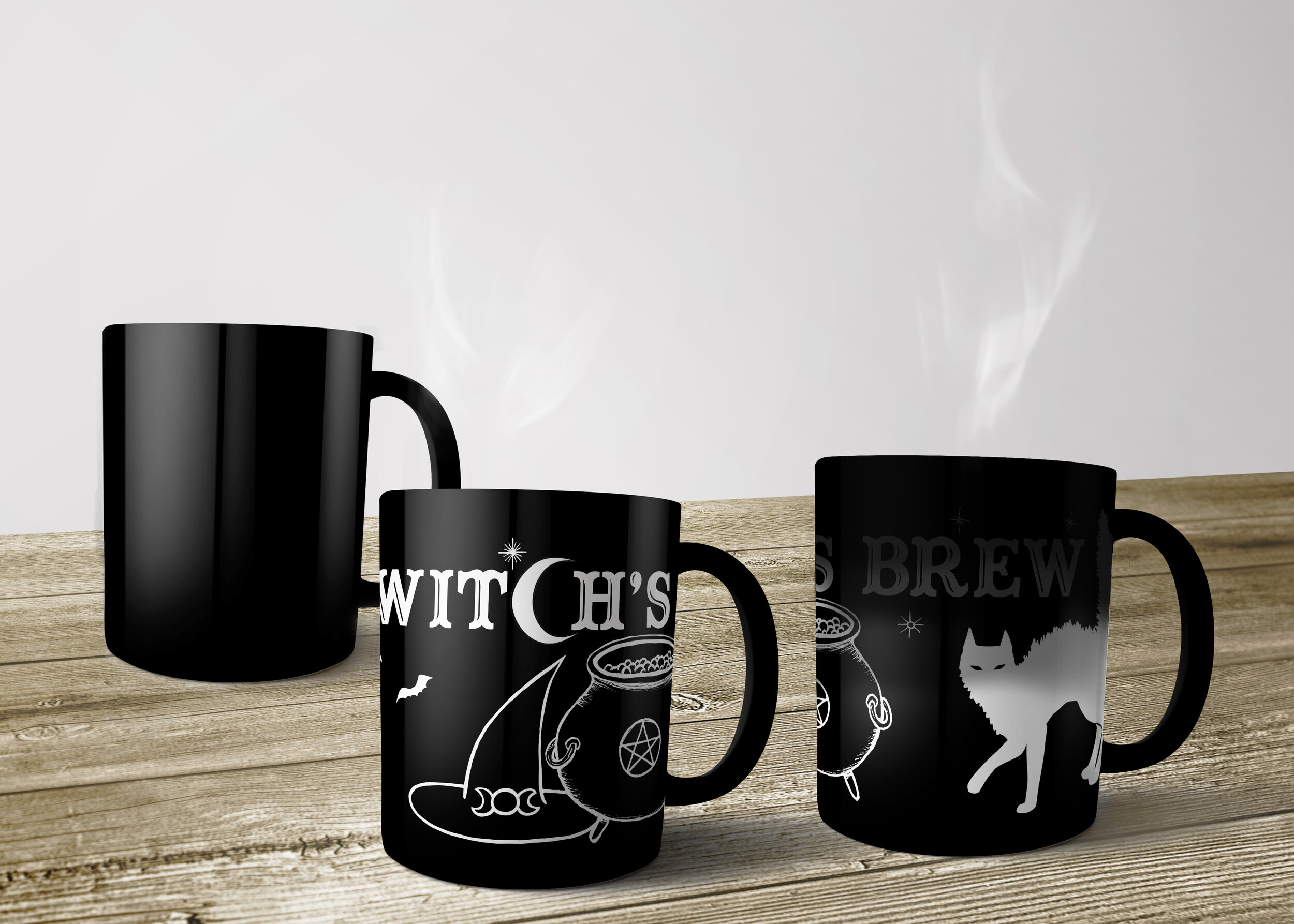 "Tree Talker art Heat Reactive Mug ""Witches Brew"""