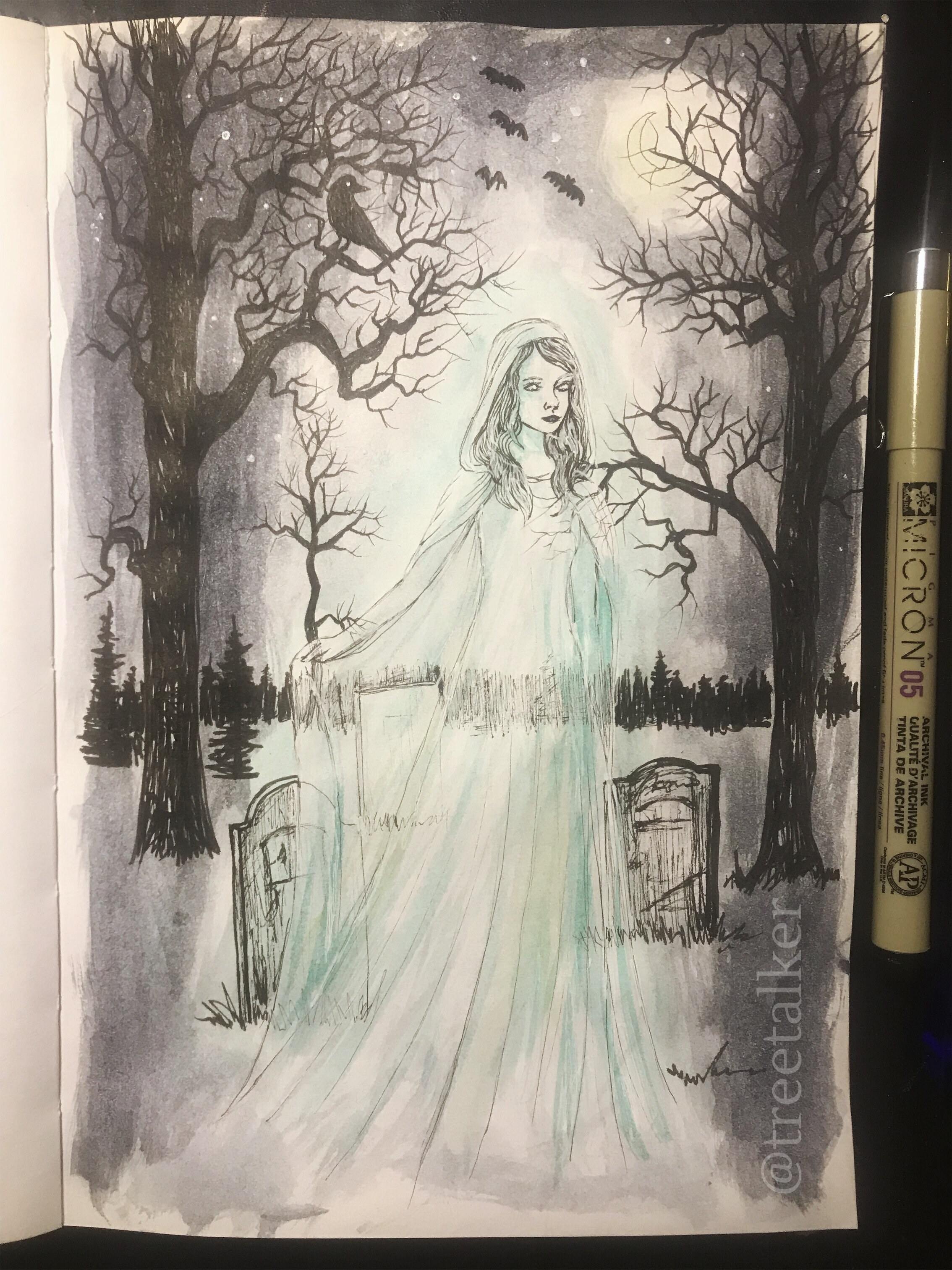 Tree Talker Art Inktober 2019 Goddesses