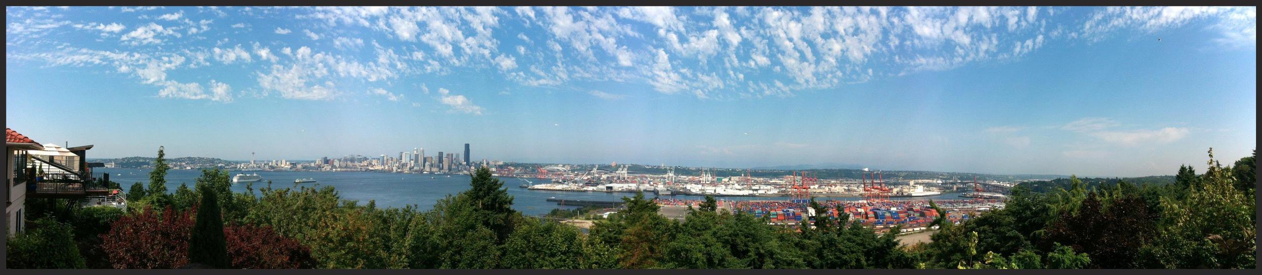 2012 - Age 30 Seattle Skyline against Puget Sound