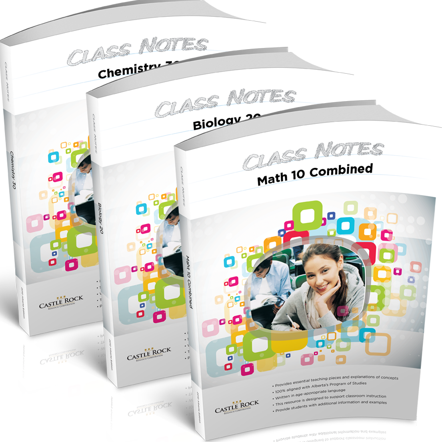 Combine with Class Notes - The Problem Solved Workbook can be used together with the Class Notes Workbook to get a full lesson-and-question learning solution.