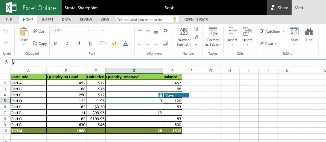 Open and Edit the same Word or Excel document at the same time using SharePoint Co-Authoring.