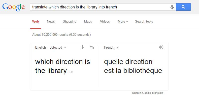 using google translate