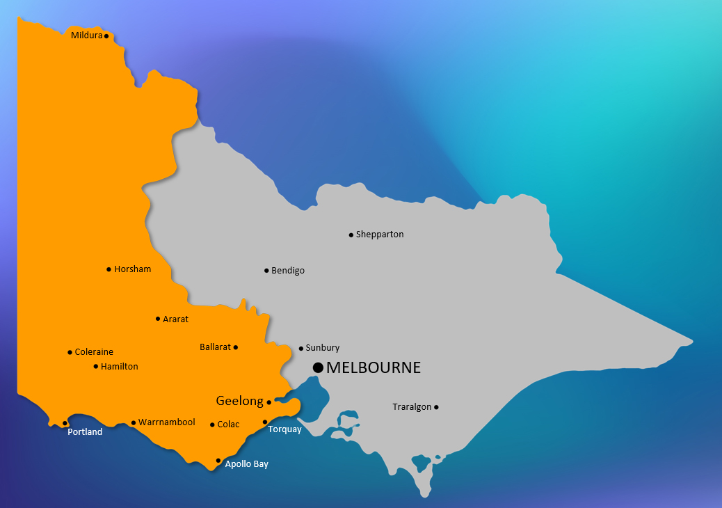 The Victoria West region we manage (in orange). Click the image to enlarge.