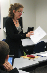 Monica teaching U.C. Berkeley Extension, 9/2009