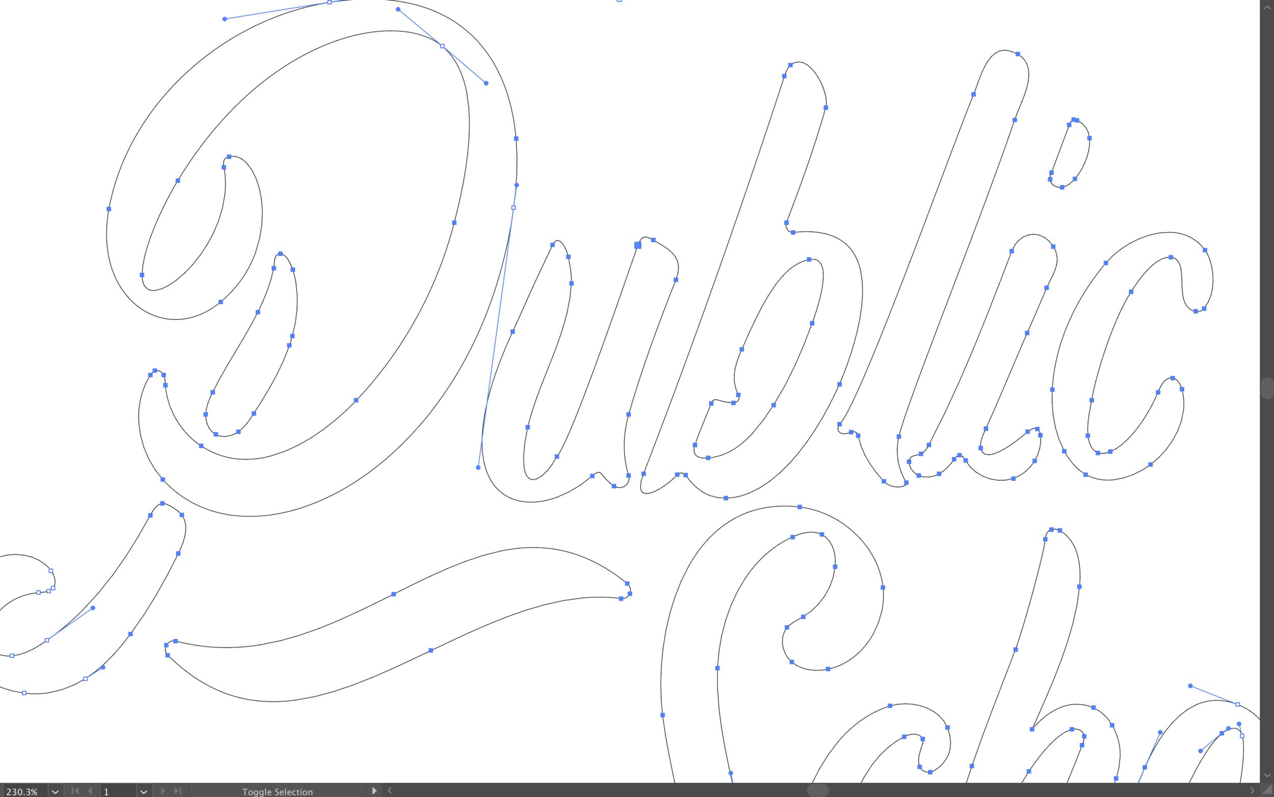 Adobe Illustrator, Typographic Design