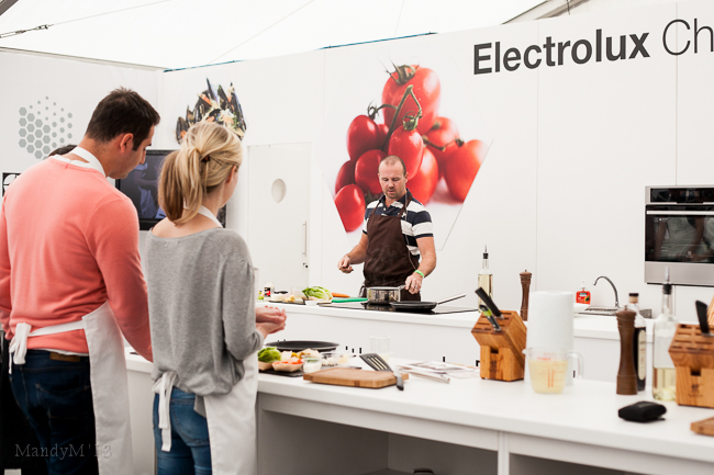 2013 - Chef Oliver Dunne giving away tips & tricks in the Electrolux Chefs' Secrets tent