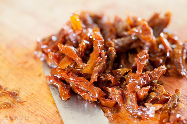 Sundried tomatoes marinated in olive oil