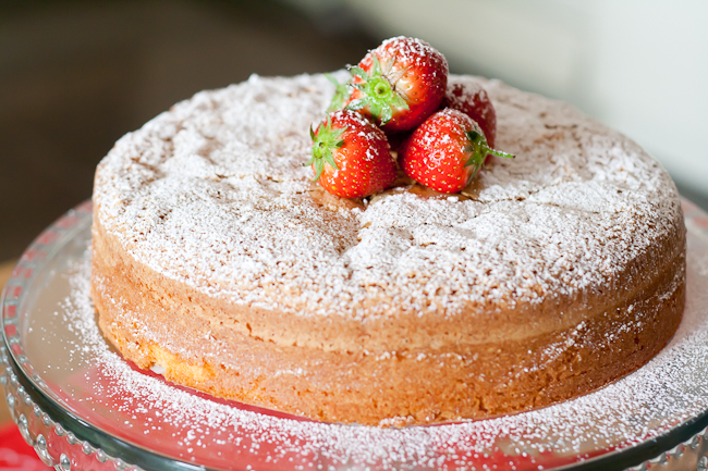 Almond paste used in this cake. It doesn't look like much, but this cake is gorgeous!