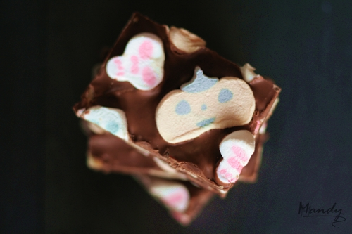 Halloween themed Rocky Road bars