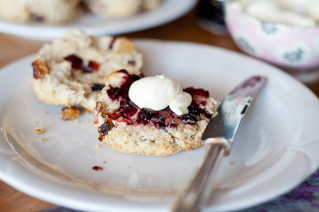 Wholemeal Fruit Scones with dried cranberries, sultanas, raisins and currants