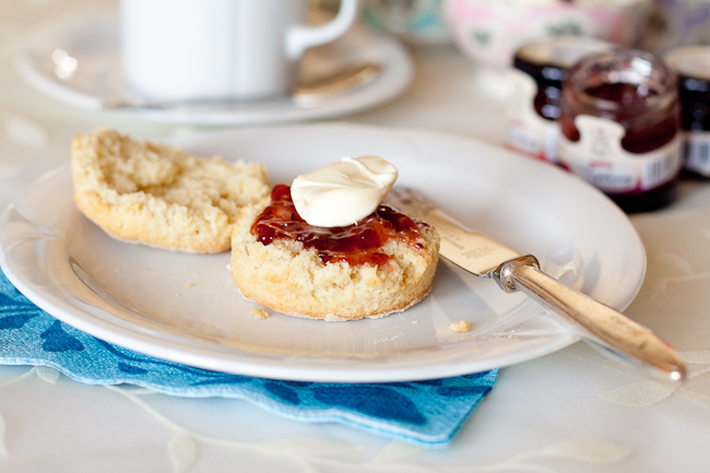 Delia Smith's buttermilk scones with jam and clotted cream