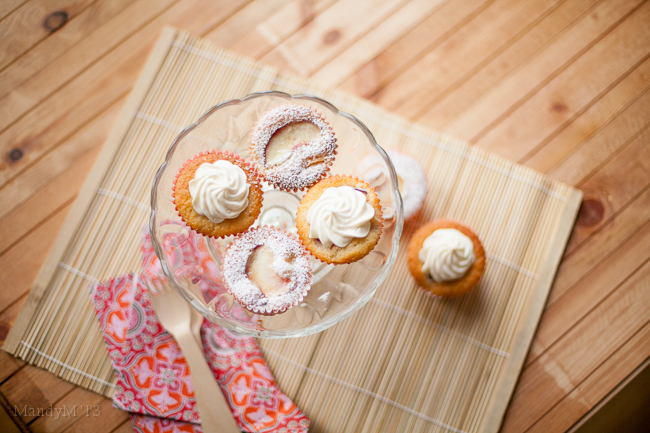 Light, fluffy & moist - peach cupcakes