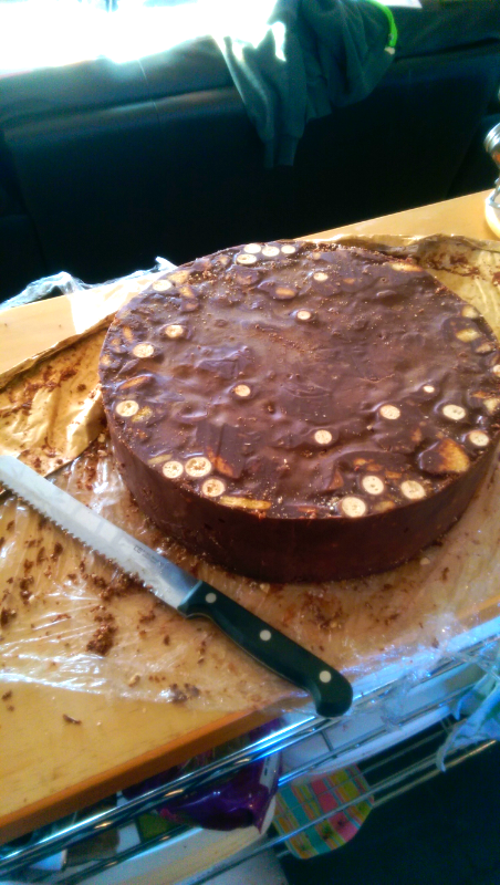 Phone Pics: The choc biscuit cake